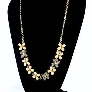 J. CREW long enamel & crystal flower necklace